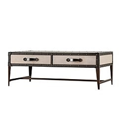 Home Interior Fairview Two-Drawer Upholstered Cocktail Table