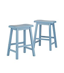 Home Interior Nevins Set of 2 Saddle Counter Stools