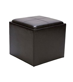 Home Interior Dailey Storage Cube with Ottoman