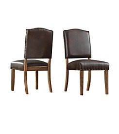 Home Interior Debevoise Set of 2 Nailhead Accent Dining Chairs