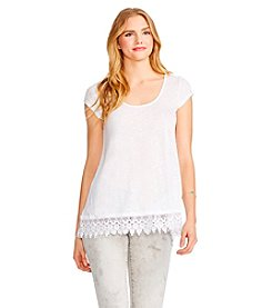 Jessica Simpson Crochet Split Top