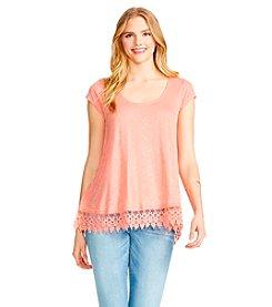 Jessica Simpson Crochet Split Top