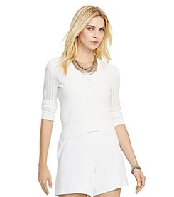 Lauren Ralph Lauren® Petites' Pointelle-Knit Cotton Cardigan