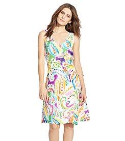 Lauren Ralph Lauren® Petites' Paisley-Print Crepe Dress