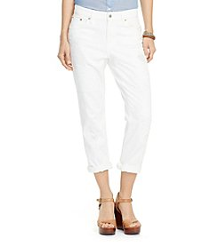 Lauren Jeans Co.® Petites' Eyelet-Patch Girlfriend Jeans