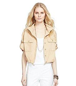 Lauren Ralph Lauren® Petites' Mockneck Twill Jacket