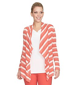 Chaus Stripe Knit Cardigan