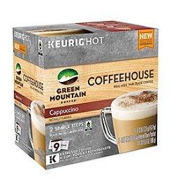 Keurig® Green Mountain Coffee® Coffeehouse Cappuccino 9-pk. K-Cup Pods & Froth Packets