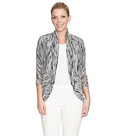 Chaus Slubby Stripe Cocoon Sweater