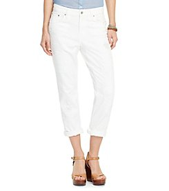 Lauren Jeans Co.® Eyelet-Patch Girlfriend Jeans