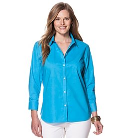 Chaps® Plus Size Solid Sateen Shirt