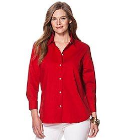 Chaps® Plus Size Poplin Shirt