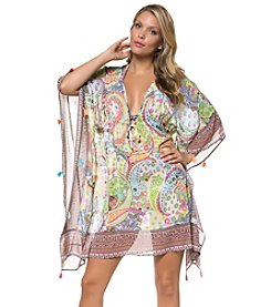 Bleu|Rod Beattie® Paisley Caftan Cover-Up