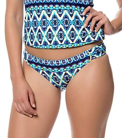 Jessica Simpson Side Shirred Printed Hipster Bottom
