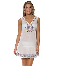 Jessica Simpson Embroidered Gauze Cover-Up