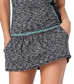 Anne Cole® Heather Elastic Trim Swim Skirt