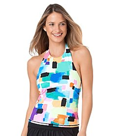 Anne Cole® Snow Cone High Neck Tankini