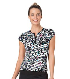 Anne Cole® Petal Power Cap Sleeve Rashguard