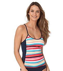Anne Cole® Running Stripe Cross Back Tankini