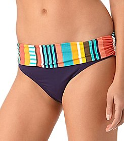Anne Cole® Tropication Fold Over Mid Rise Swim Bottom