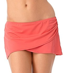 Anne Cole® Solid Sarong Bottom