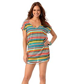 Anne Cole® Tropication Mesh Tunic Cover-Up