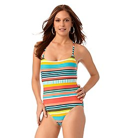 Anne Cole® Tropication Criss Cross Back One-Piece