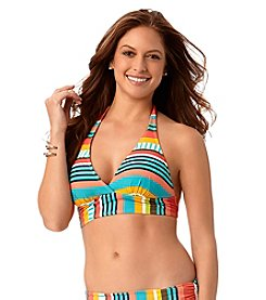 Anne Cole® Tropication Marilyn Banded Halter Bikini Top