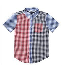 Chaps® Boys' 8-20 Short Sleeve Gingham Party Shirt