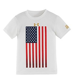 Under Armour Boys' 8-20 Short Sleeve USA Flag Graphic Tee