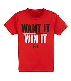 Under Armour® Boys' 4-7 Short Sleeve Want It Win It Graphic Tee