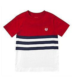 Chaps® Boys' 2T-7 Short Sleeve Striped Tee