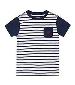 Chaps® Boys' 2T-7 Short Sleeve Striped Pocket Tee