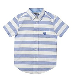 Chaps® Boys' 2T-20 Short Sleeve Striped Shirt