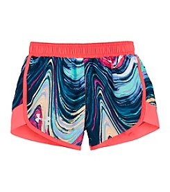 Under Armour® Girls' 2T-6X Tides Printed Fast Lane Shorts