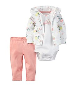 Carter's® Baby Girls' 3-Piece So Happy Hoodie Set