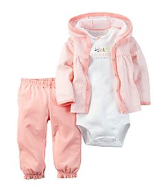 Carter's® Baby Girls' 3-Piece Adorable Geo Hoodie Set