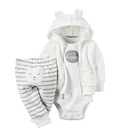 Carter's® Baby 3-Piece Happy Bear Hoodie Set