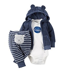 Carter's® Baby Boys 3-Piece Happy Bear Hoodie Set