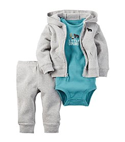 Carter's® Baby Boys 3-Piece Little Explorer Hoodie Set