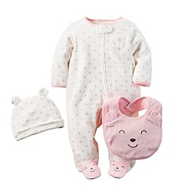 Carter's® Baby Girls' 3-Piece Bear Snap Set