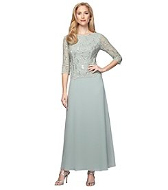 Alex Evenings® Lace Sequin Long Dress