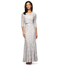 Alex Evenings® Sequin Lace Trumpet Gown With Jacket