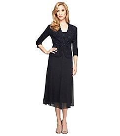 Alex Evenings® Jacquard Tea Length Jacket Dress