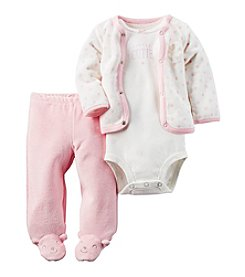 Carter's® Baby Girls' 3-Piece Bear Footed Set
