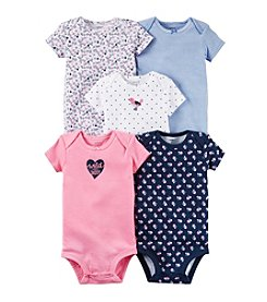 Carter's® Baby Girls' 5-Pack Wild About Daddy Bodysuits
