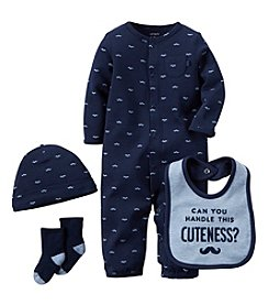 Carter's® Baby Boys 4-Piece Mustache Set