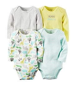 Carter's® Baby 4-Pack Long Sleeve Animal Bodysuits