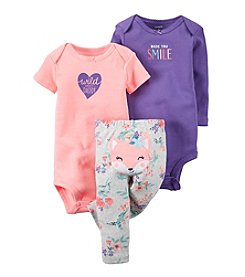 Carter's® Baby Girls' 3-Piece Fox Set