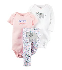Carter's® Baby Girls' 3-Piece Elephant Set